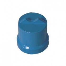 BLUE EPOXY COATED END CAPS 40MM