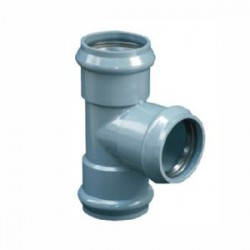 PVC MOULDED EQUAL TEE 75MM