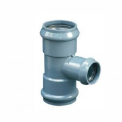 PVC MOULDED REDUCING TEE 90 X 63MM