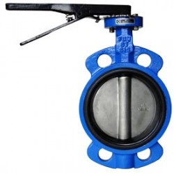 BUTTERFLY VALVE 65MM (LEVER & GEARBOX)